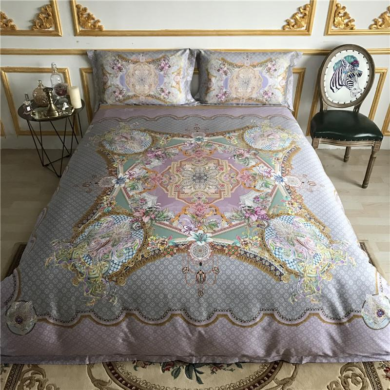 Great Tribute Silk 80s Egyptian Cotton Luxury Bedding Set Queen King Size Mandala Bed  Sheet Set Duvet Cover Bedclothes Pillowcase Luxury Bedding Set Sheets ...