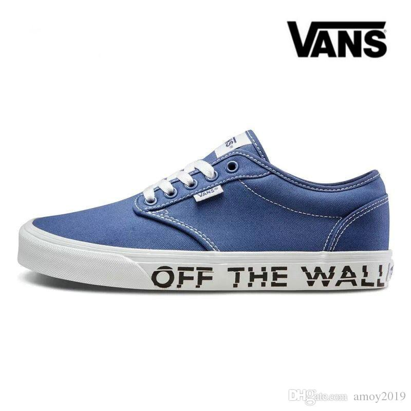 outlet purchase sale real 2018 New Athentic VANS Off The Wall Old Skool Canvas Sports Men Women Designer Sneakers Casual Mens White Trainers Size 36-44 outlet store for sale NN2Z6f