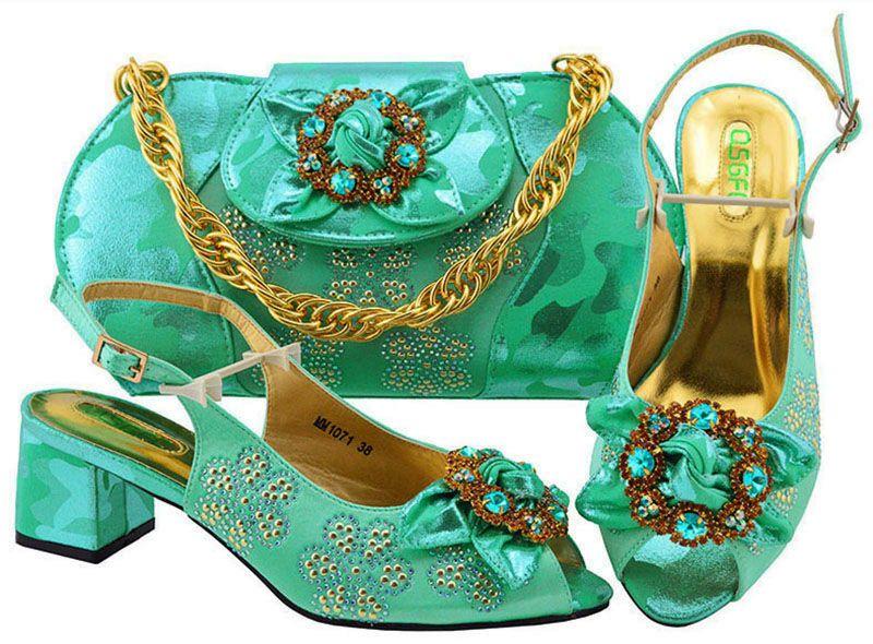eedff670 Compre Zapato Italiano Verde Agua Con Bolsos A Juego Zapato Y Conjunto De  Bolsa Para Fiesta En Mujer Paquete Italiano Zapato Y Bolsa A Juego Con  Diamante ...