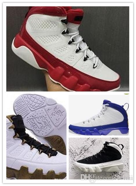 edaa4fed4b33fe Acheter NIKE AIR JORDAN RETRO Shoes Nouveau Bas Prix LA 9 Chaussures De  Basket Ball Homme LA Noir Blanc Chaussure SpaceTour Jaune PE 9s Sneakers  Taille 41 ...