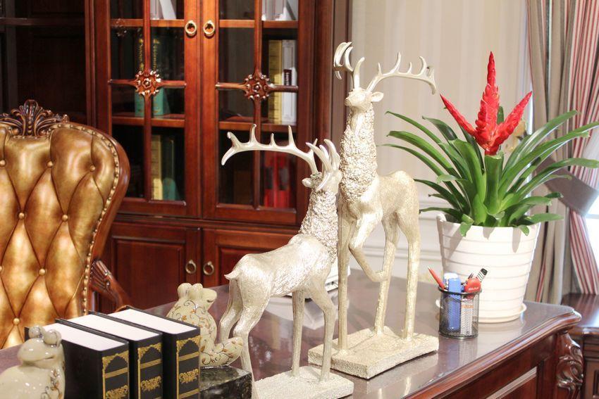 Paare Europäischen Hirsch Harz Ornamente Kleine Billige Hübsche Harz Figur für Home Office Decor