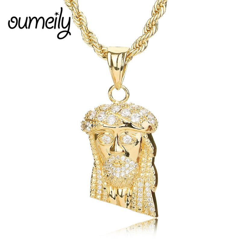 Wholesale OUMEILY Gold Color Jesus Piece Necklaces Pendant Chain ...