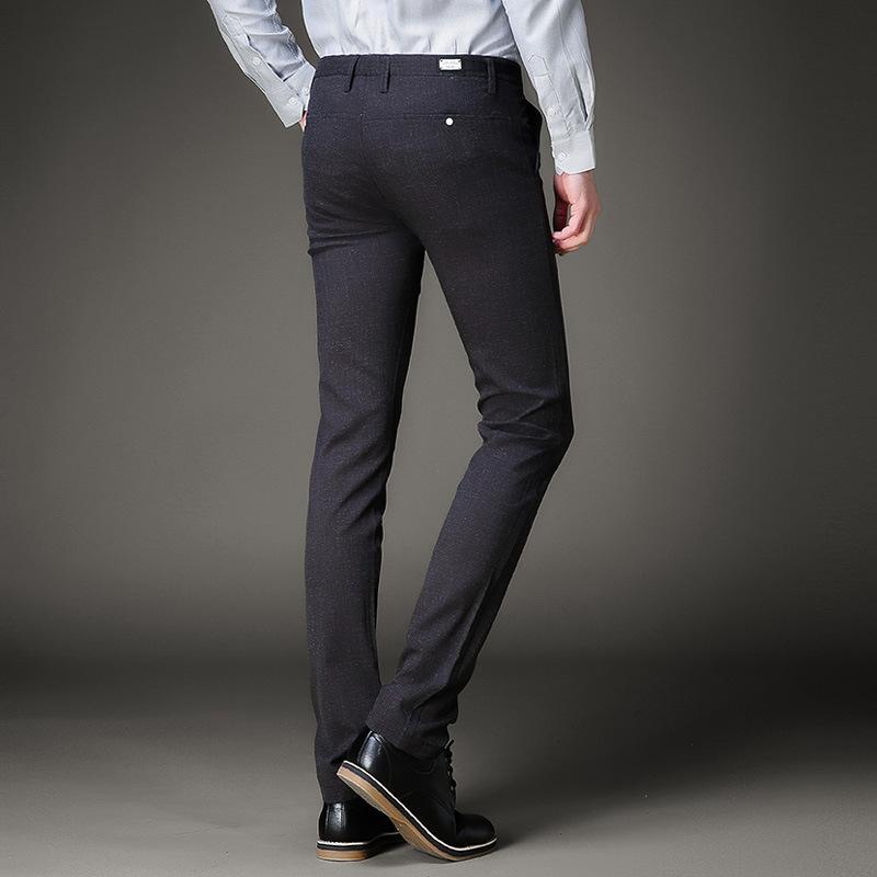 92ce9f2df5 Compre 2018 Formal Men Dress Pants Slim Fit Wedding Men Suit Pants Business  Para Hombre Pantalones Casual Traje De Verano De Lino A  48.57 Del  Pulchritude ...