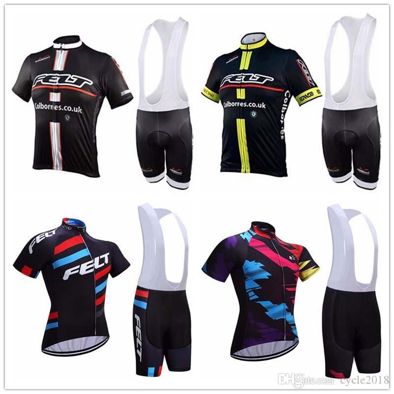 e665b53e9 FELT Pro Team New Men Cycling Jersey Sets Anti Wrinkle Cycling Shirts  Breathable Summer Quick Dry Short Sleeve Mountain Bike Shirts Clothing  Cycling Jersey ...