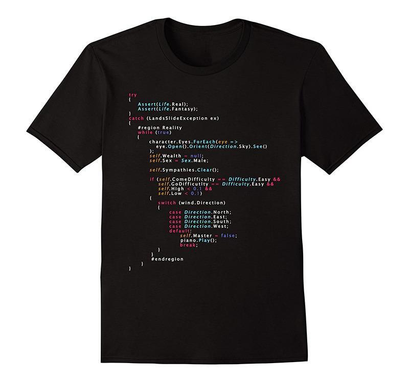 f009ae269a6f7 Compre Camisas Retro Homens Curto É Esta A Vida Real Codificação  Programação Camisa Cor 20 O Pescoço Melhor Amigo Camisas De Redbubbleshirt