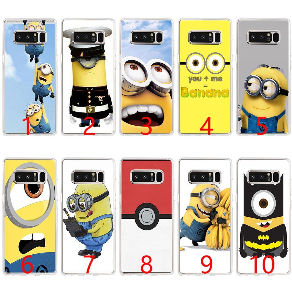 more photos ad5ca 70661 Despicable Me Yellow Minion Soft Silicone Phone Case for Samsung Note 9 8  S7 Edge S8 S9 Plus