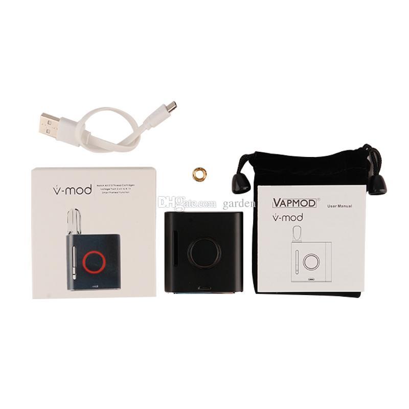 Original Vapmod VMOD 2 I II Battery 900mah Preheat VV Variable Voltage Vape Pen Box Mod Kit for 510 Thick Oil Cartridges 100% Authentic