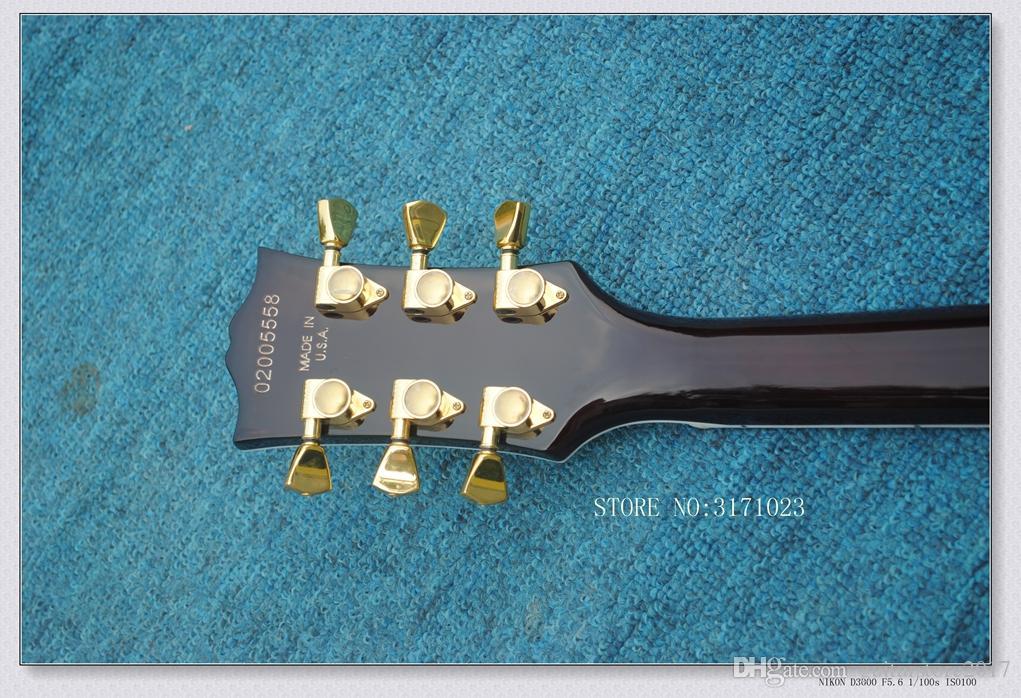 Il migliore corpo di mogano del corpo della chitarra elettrica su ordinazione della fiamma del miele su ordinazione di sinistra dalla Cina