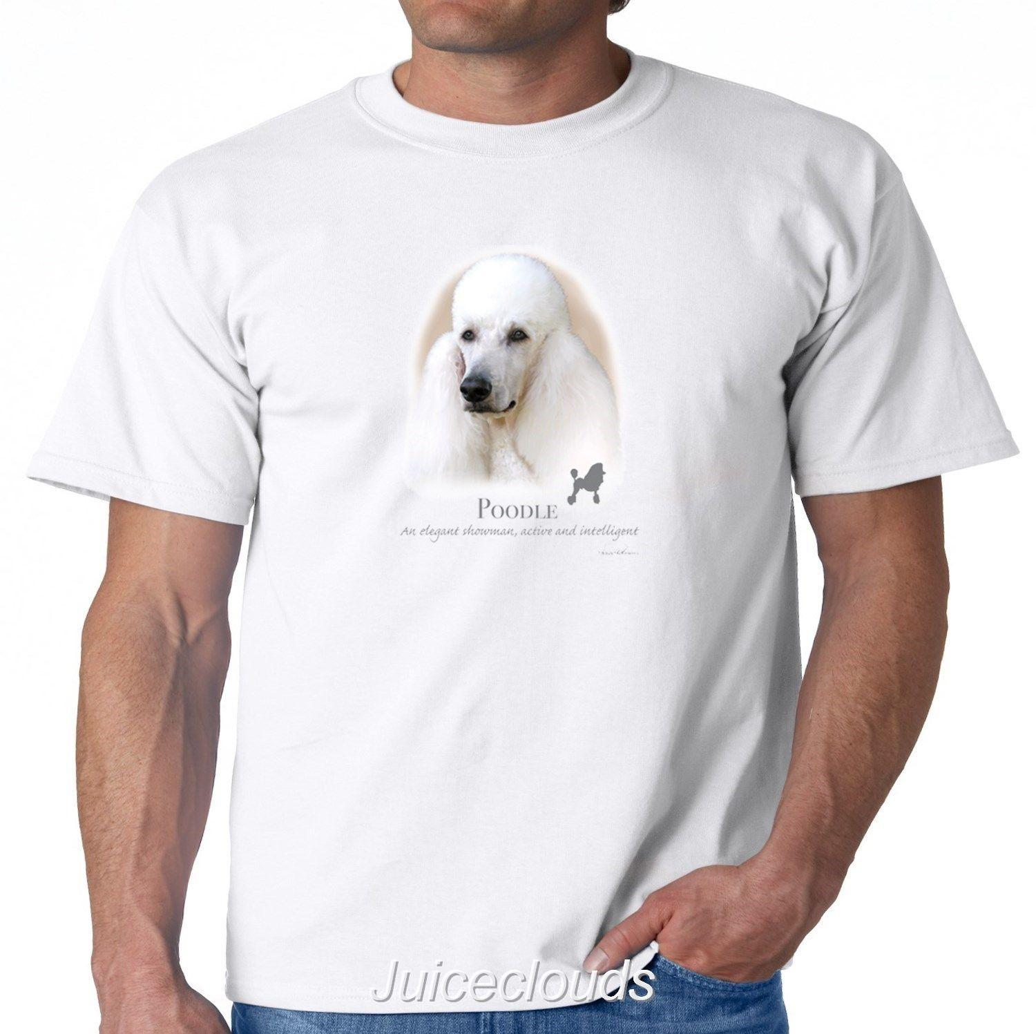 White Poodle T-Shirt Poodle Puppy Pet Rescue Dog Owner Men s Tee 2018 funny  tee 100% cotton cool lovely summer t-shirt Tops