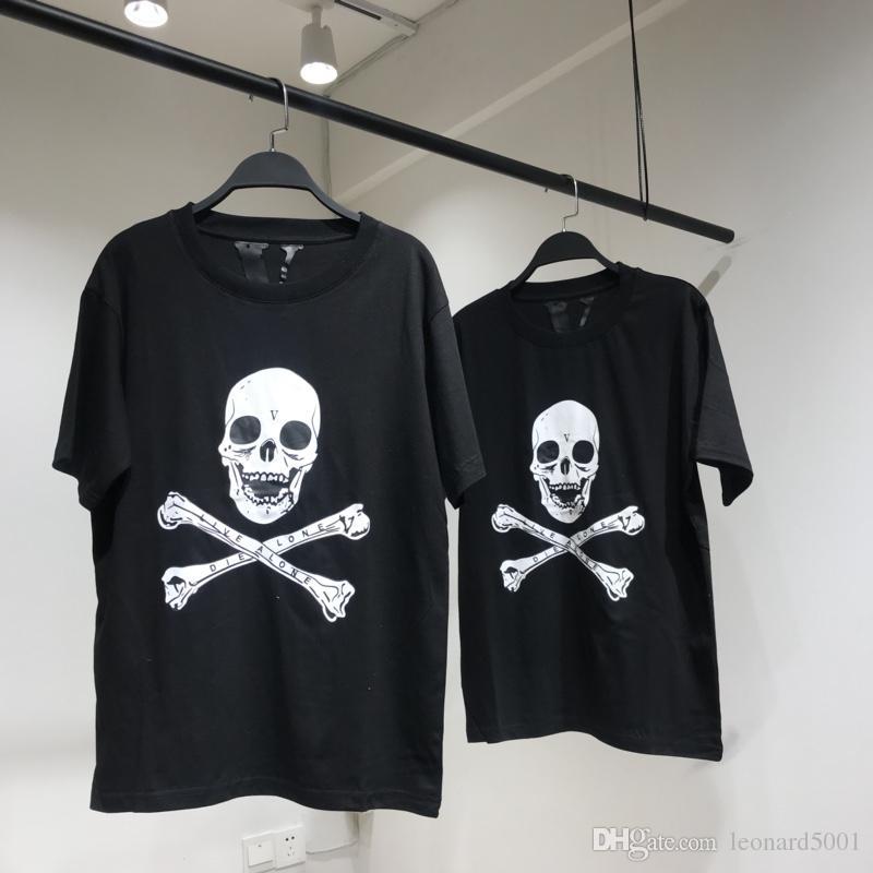 Großhandel 18ss Vlone Asap Rocky Weihnachten T Shirt Schwarz Schädel ...