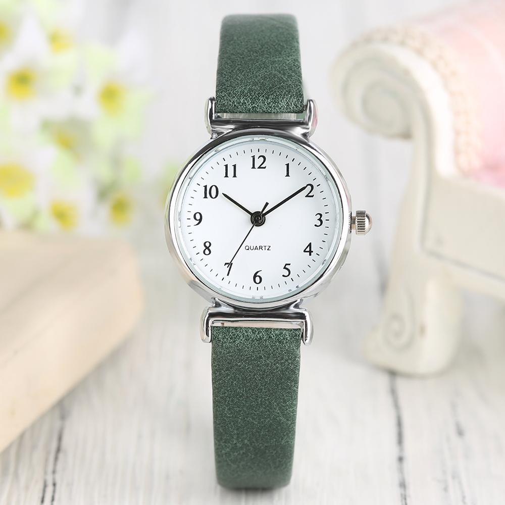 821e18560e20 Compre Relojes De Pulsera Para Mujer 2018 Moda Color Verde PU Banda De  Cuero Mujer Relojes Reloj Pulsera Señoras Reloj Simple Regalos Para Niña A   13.02 Del ...