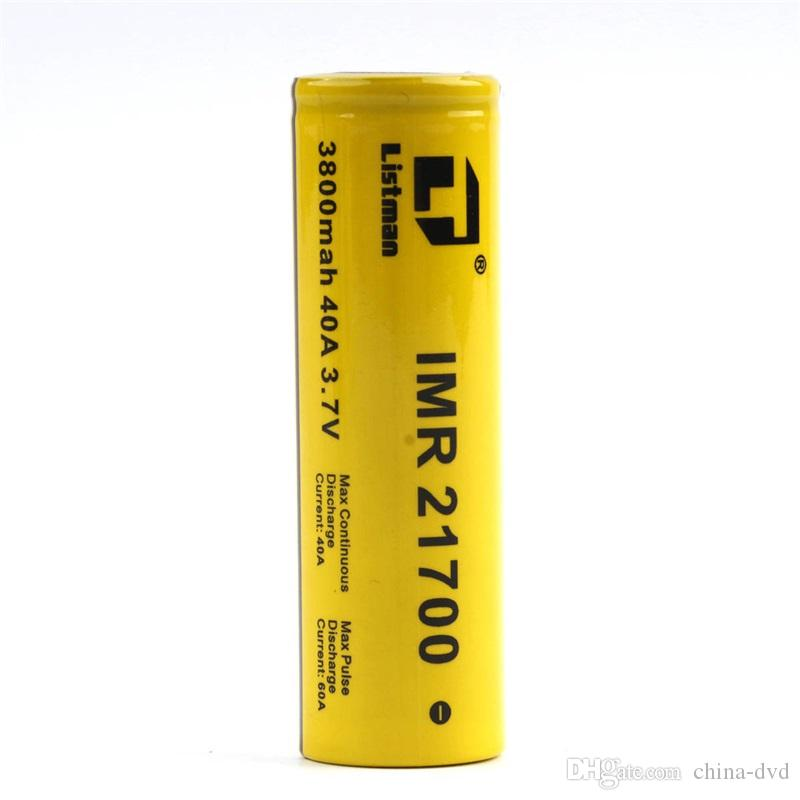 Original Listman MR 21700 battery 3.7V 60A 3800mAh Li-ion Rechargeable Battery Electronic cigarette battery for Electric Tool / Headlamp