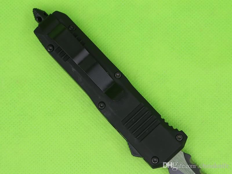Allvin Mango Negro 7 Pulgadas Mini C07 Auto Cuchillo Táctico 440C Hoja Doble Hoja de Doble Borde EDC EDC Cuchillos
