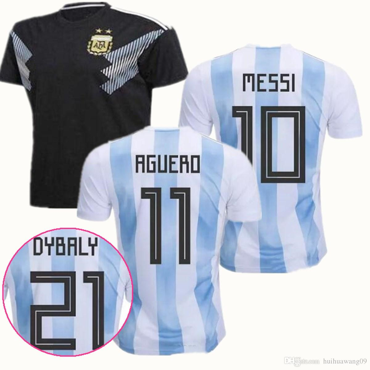 03273b52a 2019 2018 World Cup Argentina Soccer Jerseys Messi Di Maria Aguero  Mascherano Icardi Higuain Pastore Away Argentina Jersey Men Football Shirt  Kit From ...