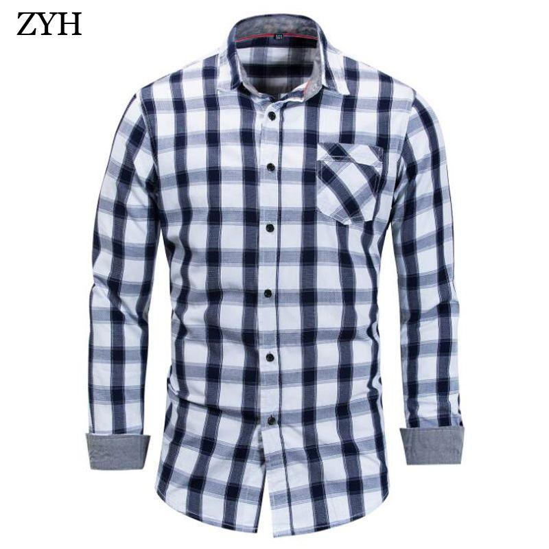 d0e28dd5b7 2019 2018 Summer High Quality Shirt Business Casual Long Sleeve Men S Shirt  Cotton Plaid Men S Ladies Brand Clothin From Shipsoon