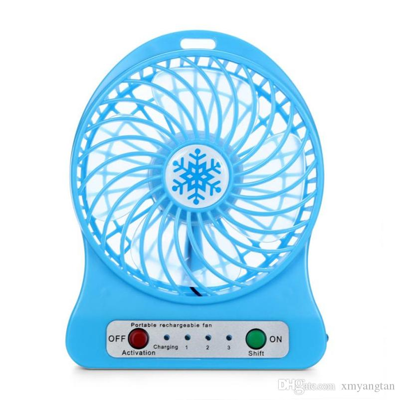 2018 Portable Mini USB Fan LED Light Air Cooler Small Desk 18650 Battery Fan for PC Laptop Cooling Fan ventilador usb