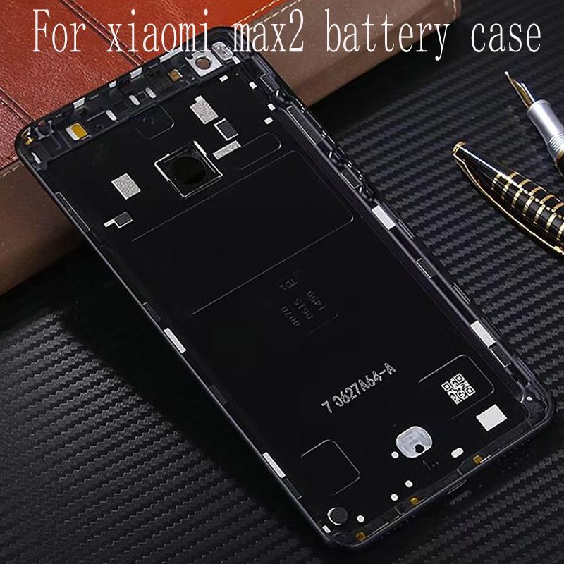 sports shoes 8cd28 0a0c7 For Xiaomi Mi Max 2 Max2 Battery cover (6.44 inch) Back Rear Battery  Housing Door Back Cover Case Side Buttons Replacement