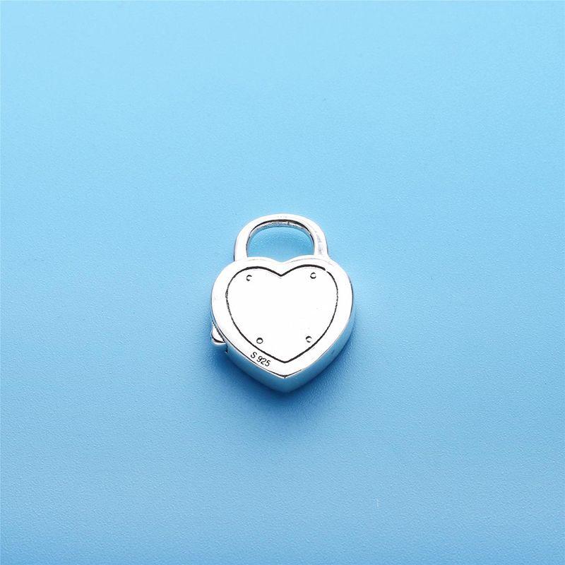 Verrouillez votre promesse Bracelet Pendentif 100% en argent Sterling 925 pandora Cz Serpent Bracelets pour les femmes Fit Charm Perles Bijoux de la Saint-Valentin