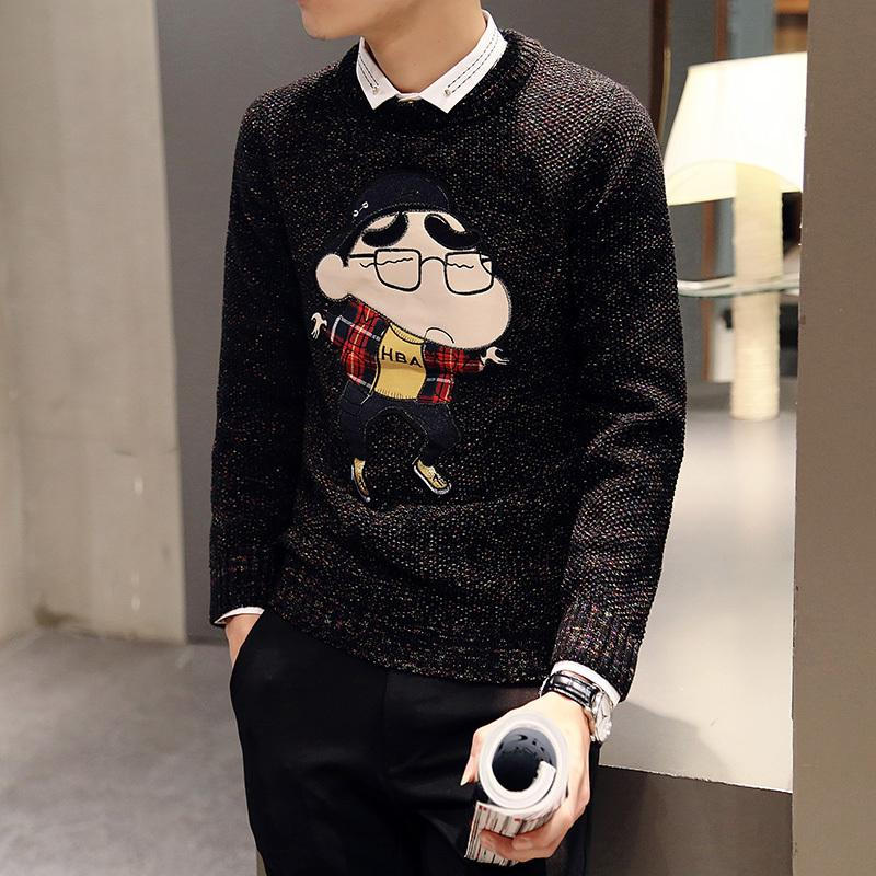 Autumn\u0026Winter Japanese Crew Neck Sweater Korean Casual Men\u0027s Wear Kittned  Cartoon Men Sweater Hip Hop Luxury Brand Sweaters Brand Men Sweater Men  Brand