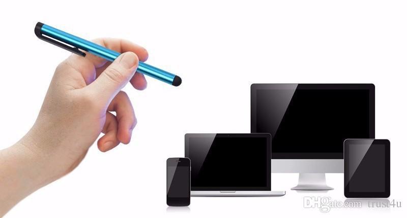 iPhone X 8 7 Artı 6 6S 5 iPad 6 5 iTouch Samsung S8 S7 S6 Kenar Not 5 için Stylus Kalem Dokunmatik Kalem Evrensel Kapasitif Ekran Oldukça hassas
