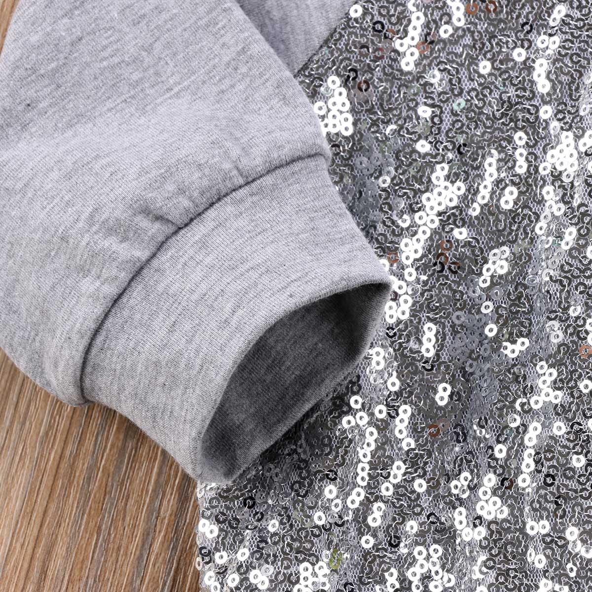 Family Matching Outfits Women Newborn Baby Girl Sequin Sparkle Top T-shirt Sweatshirt Clothes