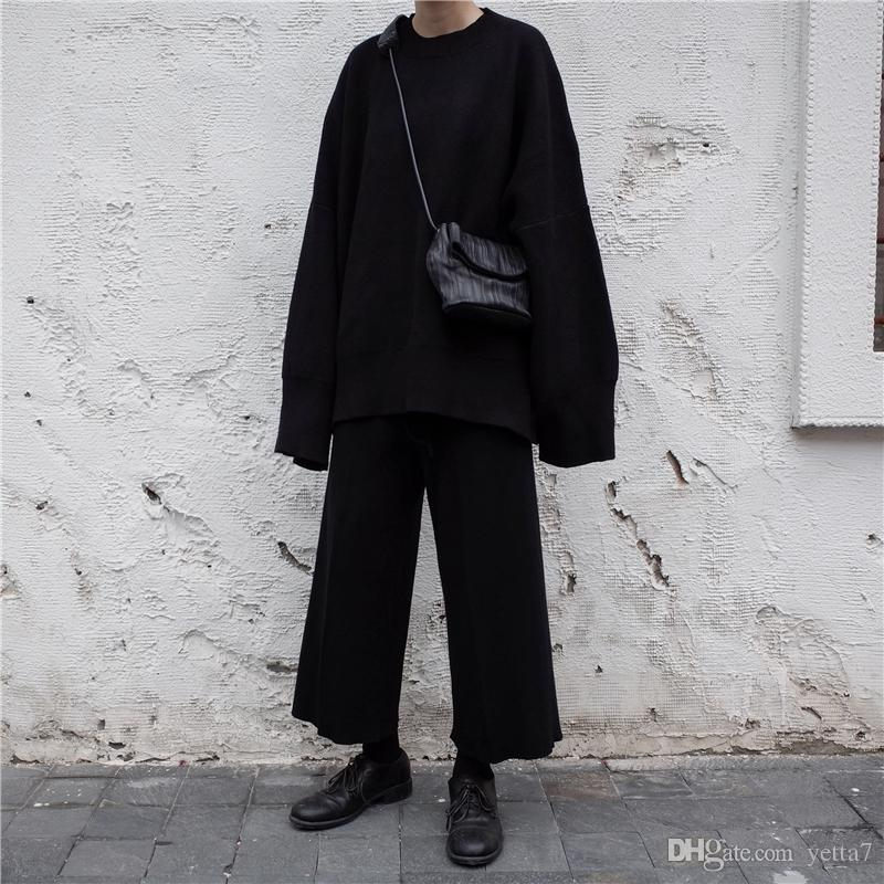 3885483fe Compre Invierno Hecho En Casa Yoji Yoji Yamamoto Manga Holgada Gigante  Oscuro Muestra Suéter Oversized Delgado Ceniza Negra. A $78.4 Del Yetta7 |  Dhgate.Com