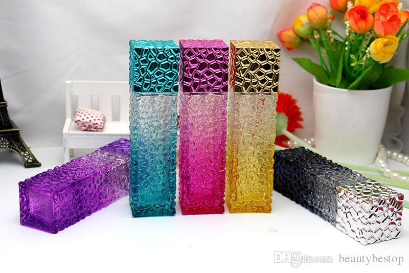 Лучшая цена по прейскуранту завода-изготовителя дизайн куб воды пустые флаконы духов 50 мл распылитель распылитель стекло многоразового использования бутылка спрей запах случае