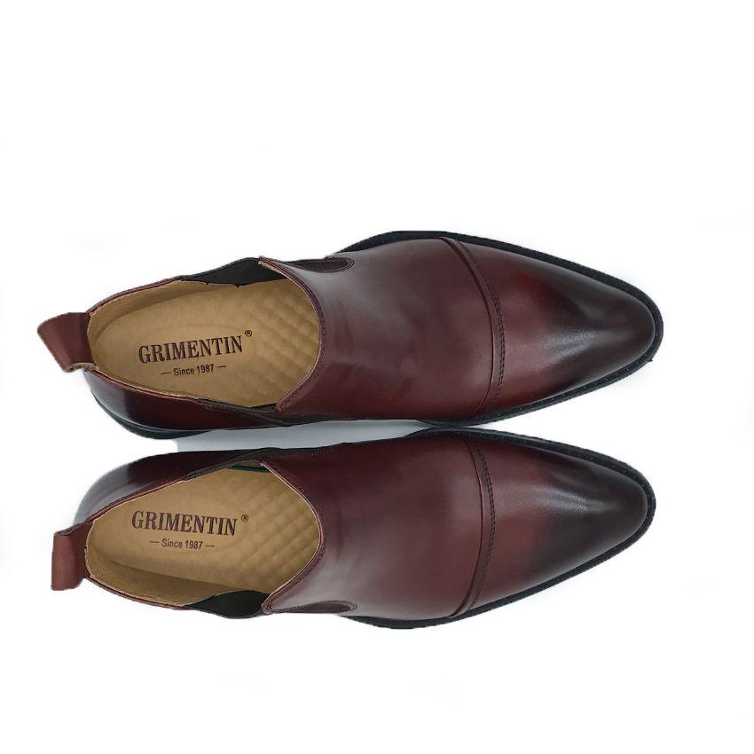 GRIMENTIN Hot sale brand mens boots Italian fashion designer black brown dress men wedding shoes genuine leather formal male ankle boots