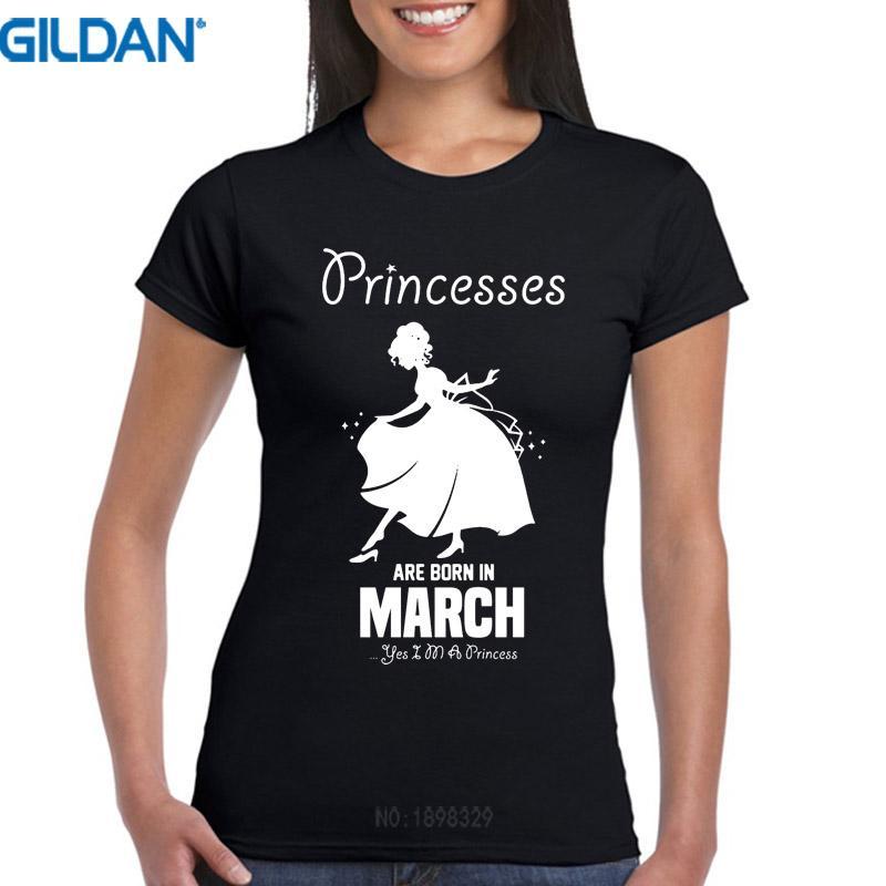 Compre Camiseta De Mujer Camisetas Personalizadas Princesse Nacen En Marzo  Cumpleaños O Cuello Manga Corta Compresión Camisetas Para Mujer A  23.95  Del ... 0d6c14f54e02