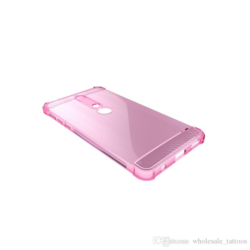1.3mm Lüks Yumuşak Silikon Kapak Darbeye Fırçalanmış TPU Kılıf Nokia 6 2018 HTC U11 Gözler Keskin Aquos S3 FS8015 Sony Xperia XA2 Ultra