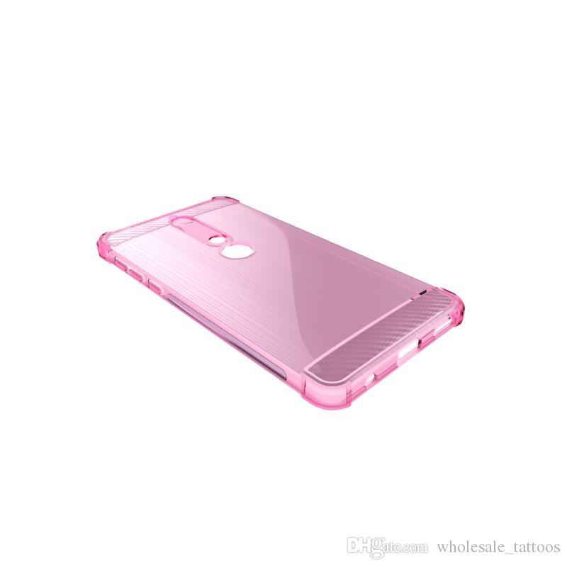 Funda de silicona suave de 1,3 mm de lujo con cubierta de silicona suave y cepillada para Nokia 6 2018 HTC U11 Eyes Sharp Aquos S3 FS8015