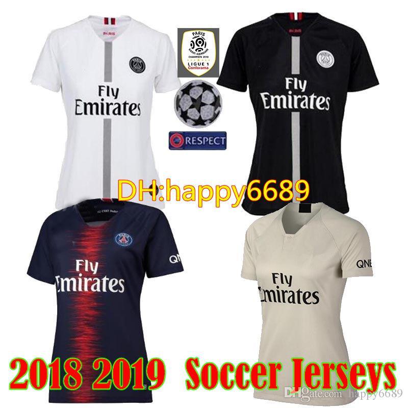 2018 2019 Women PSG Soccer Jersey Paris 3rd Third MBAPPE Saint Germain JR  Jersey 18 19 Survetement Football Shirt Women UK 2019 From Happy6689 68ca564c7