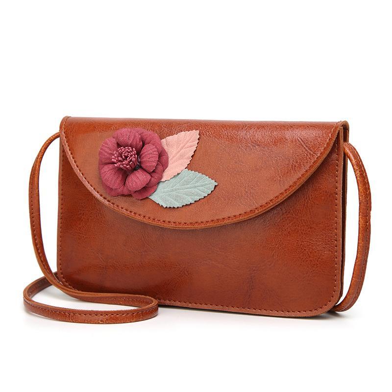Small PU Leather Bags Women Shoulder Bag Female Crossbody Bags For Women  2018 Clutch Purse Bolsa Feminina Applique Handbag Leather Bags Designer  Purses From ... 9b5aab2e1f