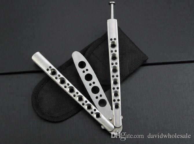 wholesaler BM40 BM42S classical training Butterfly Knife Folding pocket knife not sharp blade knives tool camping gift knife