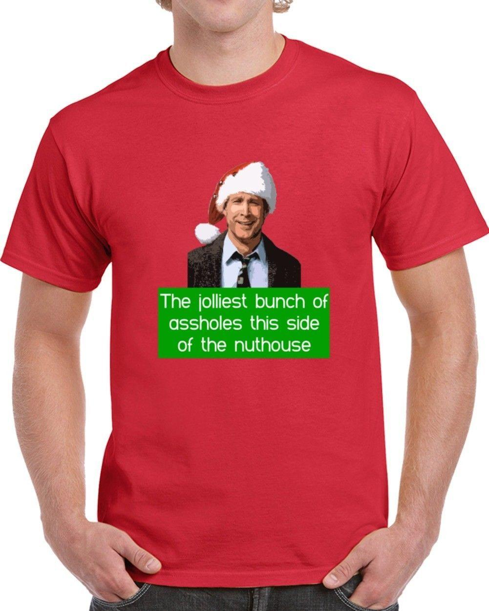 Model In Christmas Vacation.Clark Griswold Christmas Vacation Nuthouse Funny Movie Fan Quote Cool T Shirt Tops Summer Cool Funny T Shirt