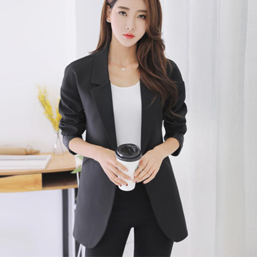 8de899ac229 2019 Wholesale Plus Size Casual Slim Women Jacket Blazer Female Business  Suit Female Jackets Elegant Bleiser Mujer 2017 Ladies Coats 50N0514 From  Philipppe