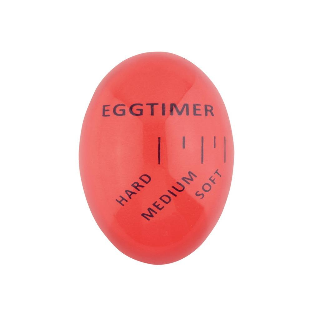 Egg Perfect Color Changing Timer Yummy Soft Hard Boiled Eggs Cooking Kitchen Eco-Friendly Resin Eggs Timer Red