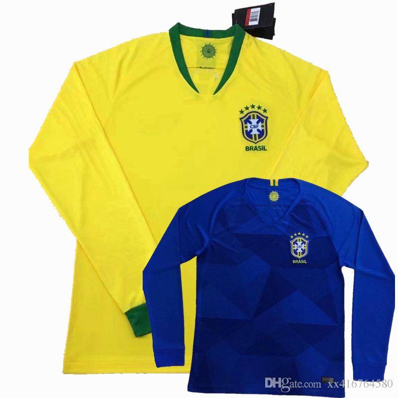 promo code fb285 c1951 reduced brazil 15 paulinho home long sleeves soccer country ...