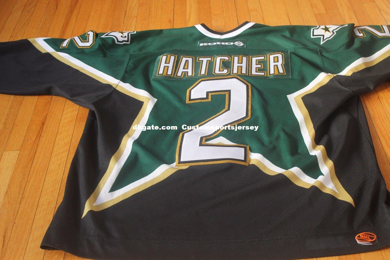 c1235296b 2019 Cheap Custom VINTAGE 1999 DERIAN HATCHER HOCKEY JERSEY DALLAS STARS  STANLEY CUP Mens Personalized Any Name Number Stitching Jerseys XS 6XL From  ...