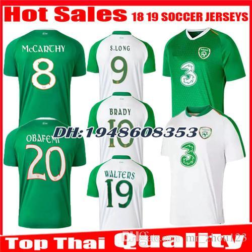 wholesale dealer 49f85 9c696 2018 2019 Ireland soccer jersey 18 19 Home green Away white MULLER CLARK  WHELAN MURPHY LONG BRADY MAGUIRE WARD DUFFY football uniform shirt