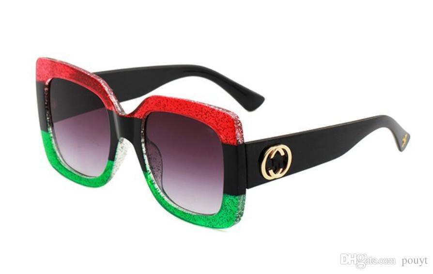 Estilo de verão óculos de sol metade do frame das mulheres dos homens designer de marca 100% proteção uv óculos de sol lente clara e lente de revestimento sunwear 0083