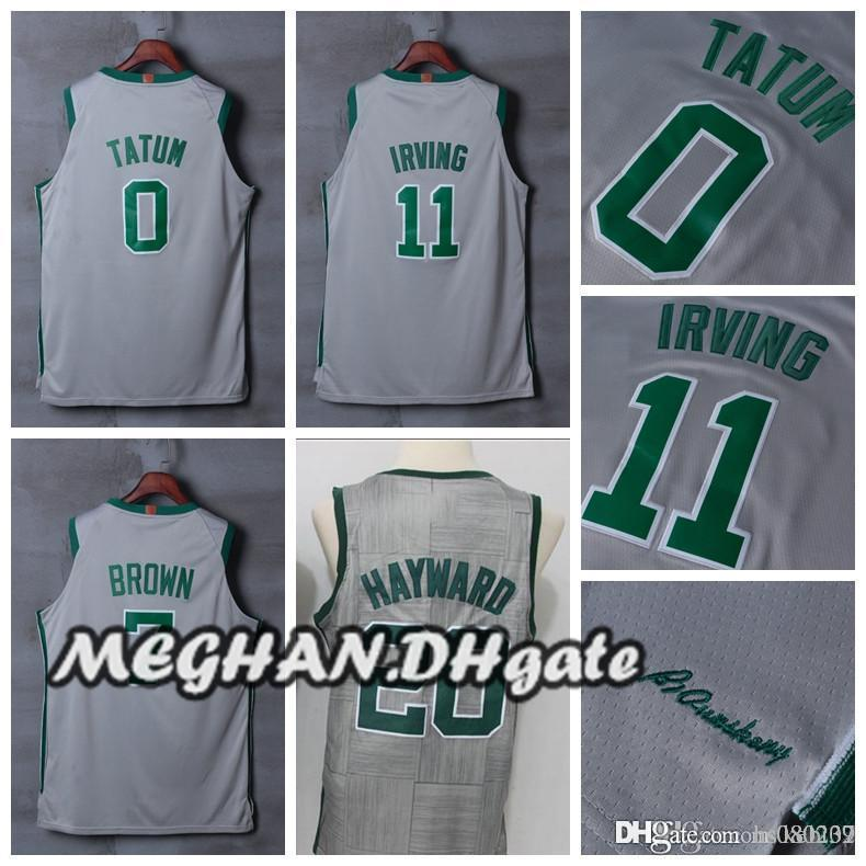 f3b6704a3 2018 Boston Celtics Roster 2018 City Edition  11 Kyrie Irving Basketball  Jerseys  20 Gordon Hayward  7 Jaylen Brown  0 Jayson Tatum Jerseys From  Hs080237