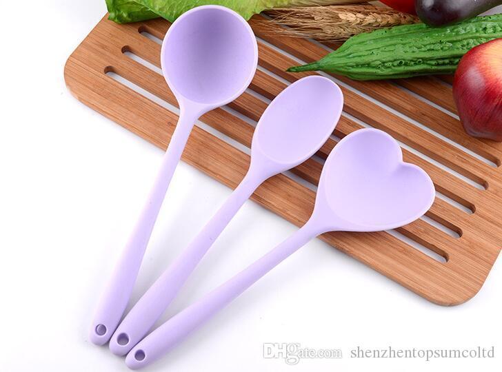 Conjunto de utensilios de cocina de silicona Conjunto de cuchara de sopa antiadherente