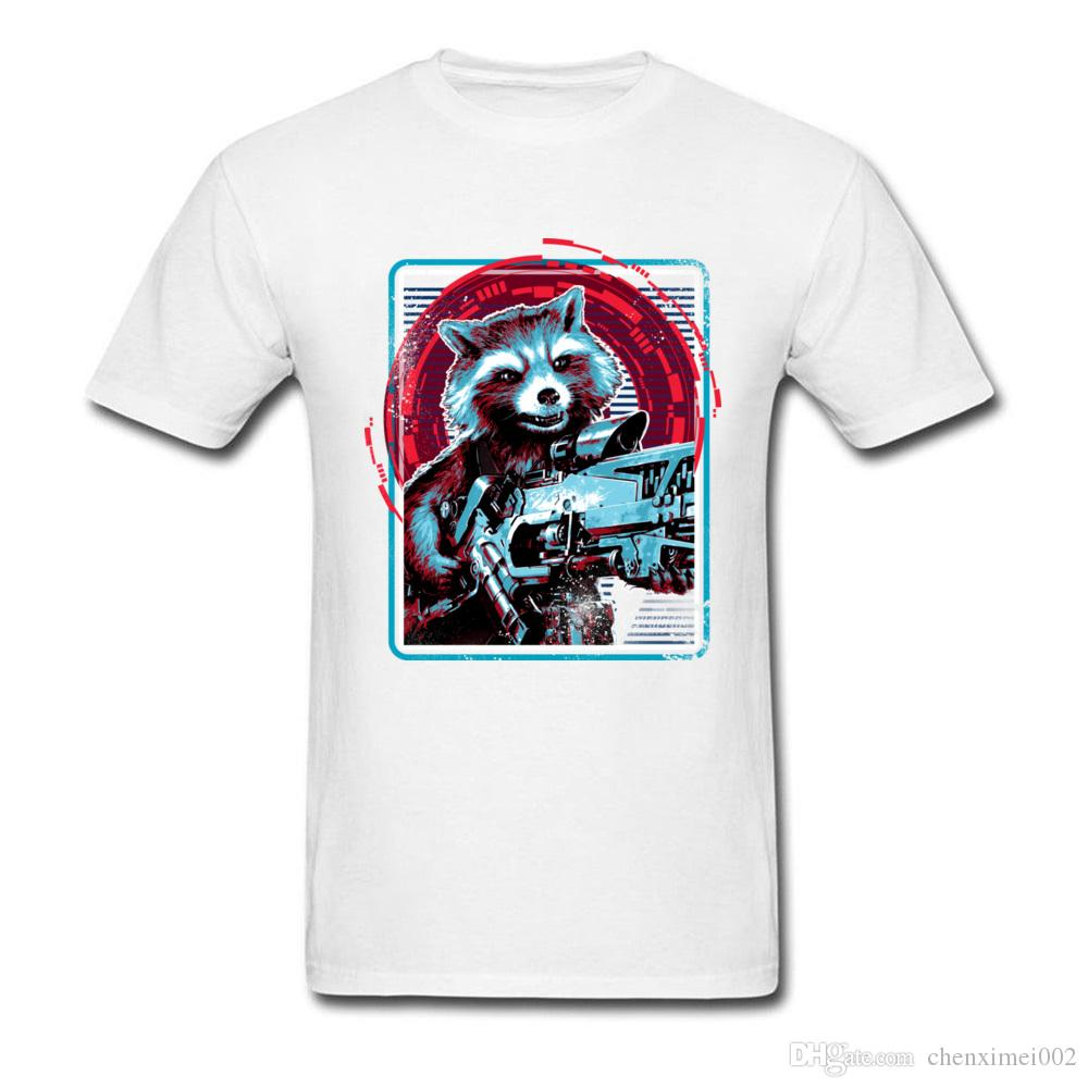 17beb4d134 Rocket-At-The-Ready-Men-T-Shirt-Raccoon-T-shirt-Avengers-Infinity-War-Tops-Tees-Boyfriend