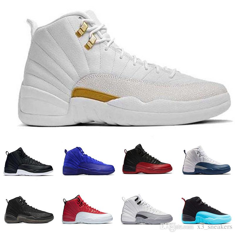 reputable site 33965 d4d21 2018 Mens 12 12s Basketball Shoes The Master White Black Gamma French Blue  Gym Red Flu Game Sport Sneakers Athletic Trainers US 8 13 Running Shoe Best  ...