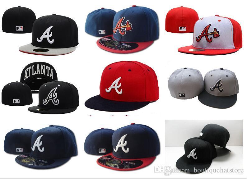 Erkek Braves takılmış şapka düz ağızlı takım şefi Bir mektup logosu hayranları beyzbol Şapkaları Ucuz Beyzbol Yüksek Taç Kapaklar tam kap kaputlar