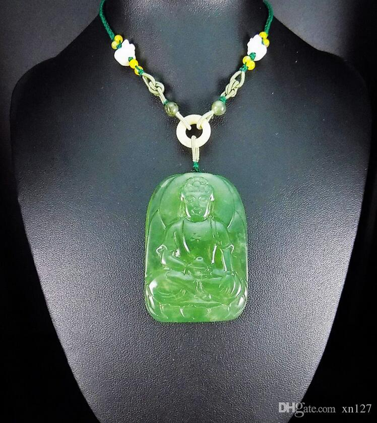 2018 100 natural hand carved jade pendant jadeite necklace 2018 100 natural hand carved jade pendant jadeite necklace shakyamuni buddha from xn127 402 dhgate aloadofball Images