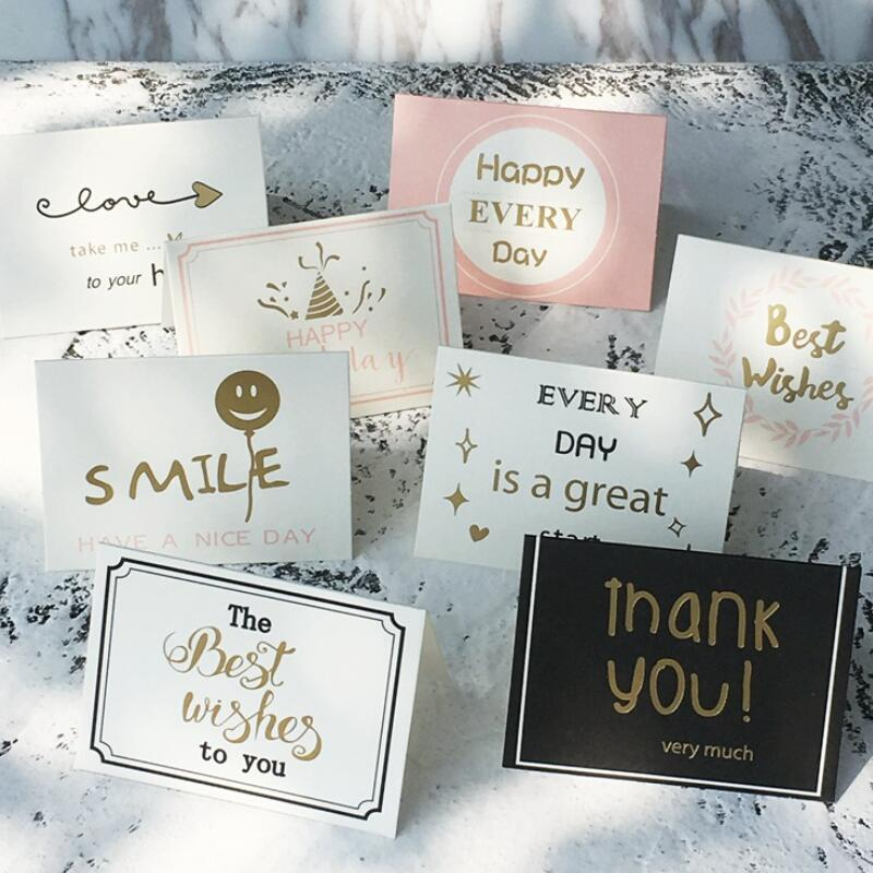 DIY Handmade Mini Paper Folding Greeting Cards Kids Happy Birthday Gift Thank You Free E Greetings Funny From Liuyanggarden