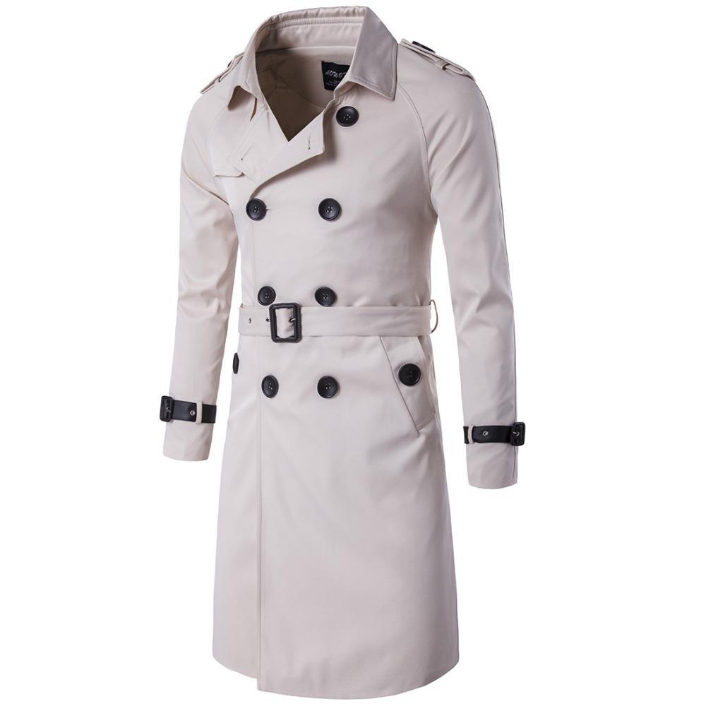 Acquista JZ CHIEF 2018 Moda Trench Coat Doppio Petto Trench Giacca Lunga  Giacca A Vento Impermeabile Con Cintura Sottile Outwear Soprabito A  73.8  Dal ... 6315810d266
