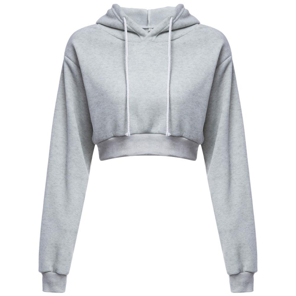 d233979f10f72 Fashion Women Sweatshirt 2018 Hot Sale Hoodies Solid Crop Hoodie Long  Sleeve Jumper Hooded Pullover Coat Casual Sweatshirt Top